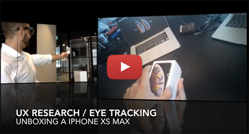 EYE TRACKING RECORDING of the iPhone Xs Max unboxing